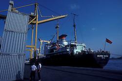 Vessel docked at the port