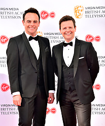 Anthony McPartlin (left) and Declan Donnelly attending the Virgin Media BAFTA TV awards, held at the Royal Festival Hall in London.