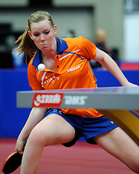 09-05-2011 TAFELTENNIS: WORLD TABLE TENNIS CHAMPIONSHIPS: ROTTERDAM<br /> Britt Eerland<br /> ©2011-FotoHoogendoorn.nl