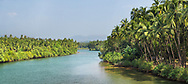 River at Palolem, Goa, India