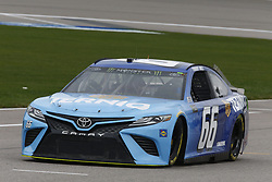 October 19, 2018 - Kansas City, Kansas, United States of America - Timmy Hill (66) hangs out in the garage during practice for the Hollywood Casino 400 at Kansas Speedway in Kansas City, Kansas. (Credit Image: © Justin R. Noe Asp Inc/ASP via ZUMA Wire)