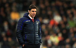Nottingham Forest Manager Aitor Karanka during the Sky Bet Championship match at Pride Park, Derby.