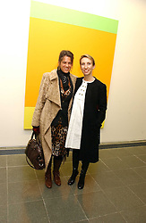 Left to right, Artist TRACEY EMIN and SAM TAYLOR-WOOD at an exhibition of leading artist Ellsworth Kelly at the Serpentine Gallery, Kensington Gardens, London followed by a dinner at the Riverside Cafe, London on 17th March 2006.<br /><br />NON EXCLUSIVE - WORLD RIGHTS