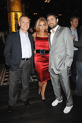 Left to right, LORD ARCHER, TARA ARCHER and the HON.JAMES ARCHER at the opening of Marco the new Marco Pierre White restaurant at Stamford Bridge, Fulham Road, London on 25th September 2007.<br /><br />NON EXCLUSIVE - WORLD RIGHTS