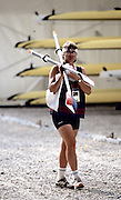 Barcelona Olympics 1992 - Lake Banyoles, SPAIN, USA W1X, Anne Marden. Photo: Peter Spurrier/Intersport Images.  Mob +44 7973 819 551/email images@intersport-images.com.       {Mandatory Credit: © Peter Spurrier/Intersport Images]..........       {Mandatory Credit: © Peter Spurrier/Intersport Images].........
