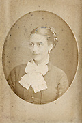 fading 1900s portrait of adult woman