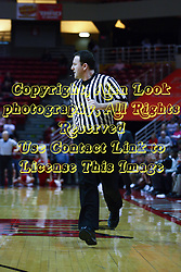12 February 2011: Referee Brad Gaston during an NCAA Missouri Valley Conference basketball game between the Missouri State Bears and the Illinois State Redbirds at Redbird Arena in Normal Illinois.