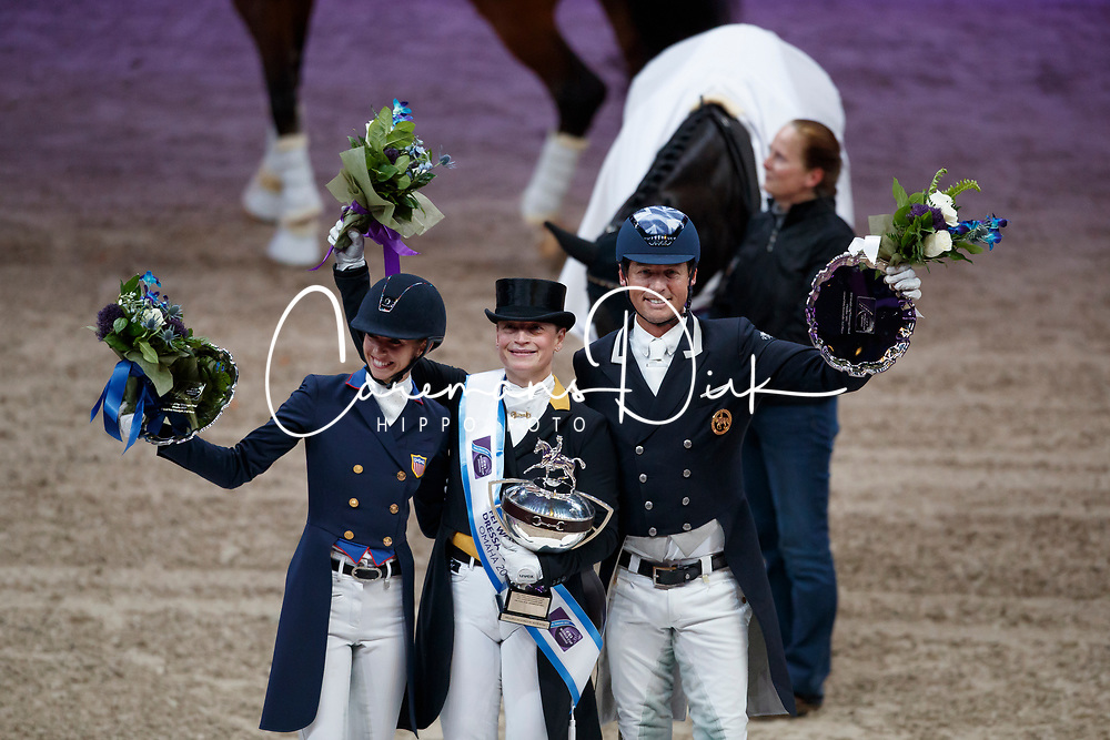 Werth Isabell, GER, Graves Laura, USA, Hester Carl, GBR<br /> Grand Prix Freestyle<br /> FEI World Cup Dressage Final, Omaha 2017 <br /> © Hippo Foto - Dirk Caremans<br /> 01/04/2017