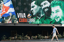 November 27, 2016 - Havana, Cuba - A view Havana's street just two days later after Fidel Castro, the former Prime Minister and President of Cuba dies on the late night of November 25, 2016, at age of 90. .On Sunday, 26 November 2016, in Havana, Cuba. (Credit Image: © Artur Widak/NurPhoto via ZUMA Press)