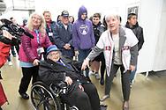 Norma Merrill, Marilla Cushman visited by the press at The Women's Memorial, Washington, DC.