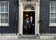 © Licensed to London News Pictures. 23/02/2012, London, UK. Ban Ki-Moon,  Secretary-General of the United Nations, leaves a breakfast meeting at Downing Street. UK Prime Minister David Cameron and Foreign Secretary William Hague host a major London conference to discuss piracy, protection of ships in the Gulf of Aden, Islamic extremists, the causes of conflict and instability in Somalia, and support for surrounding countries. Senior representatives from foreign governments are in attendance. Photo credit : Stephen Simpson/LNP