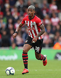 """Southampton's Mario Lemina during the Premier League match at St Mary's, Southampton. PRESS ASSOCIATION Photo. Picture date: Sunday August 12, 2018. See PA story SOCCER Southampton. Photo credit should read: Andrew Matthews/PA Wire. RESTRICTIONS: EDITORIAL USE ONLY No use with unauthorised audio, video, data, fixture lists, club/league logos or """"live"""" services. Online in-match use limited to 120 images, no video emulation. No use in betting, games or single club/league/player publications."""