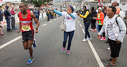 Durban. 100618. Some 21,000 runners are expected to put tekkie to tar during the 2018 Comrades Marathon. The race is scheduled to begin at 5:30 am on Sunday, taking place from Pietermaritzburg to Durban. Picture Leon Lestrade. African News Agency/ANA Runners take part in the Comrades marathon on 10 June 2018. This year was the down run from Pietermaritzburg to Durban, KwazuluNatal.