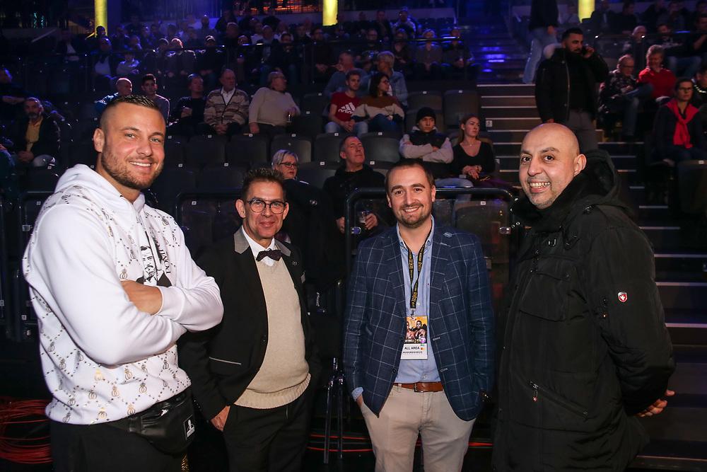 """BOXEN: EC Boxing & SES Boxing, Hamburg, 18.01.2020<br /> Eric Sindermann """"Dr.Sinds"""", Holger Gräbedünkel, Steffen Soltau und Rahiim<br /> © Torsten Helmke"""