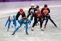Italy's Arianna Fontana and Martina Valcepina in Women's 3000m Short Track relay heat two during day one of the PyeongChang 2018 Winter Olympic Games in South Korea.