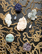 Treffry Caldwell of Pluma Jewelry in her home studio in Upper Arlington. (Will Shilling/Capital Style)