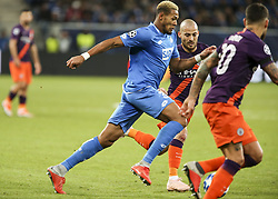 October 2, 2018 - Sinsheim, Germany - Joelinton 34; David Silva 21; seen in action during the UEFA Champions League group F football match between TSG 1899 Hoffenheim and Manchester City at the Rhein-Neckar-Arena. (Credit Image: © Elyxandro Cegarra/SOPA Images via ZUMA Wire)