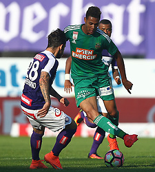 07.08.2016, Ernst Happel Stadion, Wien, AUT, 1. FBL, FK Austria Wien vs SK Rapid Wien, 3. Runde, im Bild Christoph Martschinko (FK Austria Wien) und Joelinton Cassio Apolinario de Lira (SK Rapid Wien) // during Austrian Football Bundesliga Match, 3rd Round, between FK Austria Vienna and SK Rapid Vienna at the Ernst Happel Stadion, Vienna, Austria on 2016/08/07. EXPA Pictures © 2016, PhotoCredit: EXPA/ Thomas Haumer