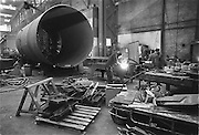 Nederland, Utrecht, 10-10-1985Fabriekshal van machinefabriek Stork Werkspoor.Foto: Flip Franssen/Hollandse Hoogte