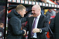 Football - 2019 / 2020 Premier League - AFC Bournemouth vs. Burnley<br /> <br /> Bournemouth's Manager Eddie Howe and Burnley Manager Sean Dyche share a laugh before kick off at the Vitality Stadium (Dean Court) Bournemouth <br /> <br /> COLORSPORT/SHAUN BOGGUST