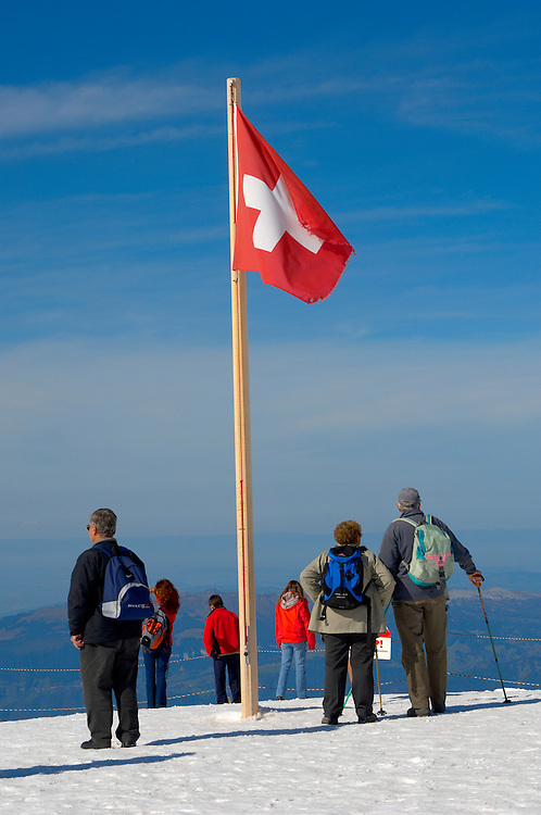 Jungfrau Top of Europe  and Swiss flag - Swiss Alps - Switzerland .<br /> <br /> Visit our SWITZERLAND  & ALPS PHOTO COLLECTIONS for more  photos  to browse of  download or buy as prints https://funkystock.photoshelter.com/gallery-collection/Pictures-Images-of-Switzerland-Photos-of-Swiss-Alps-Landmark-Sites/C0000DPgRJMSrQ3U