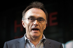 """© Licensed to London News Pictures . 21/05/2015 . Manchester , UK . DANNY BOYLE at the """" HOMEwarming weekend """" - the official opening of HOME - the new £25million arts venue on First Street in Manchester , consisting of cinema complex , theatres and galleries and formerly housed at The Corner House and the Library Theatre , on Manchester's Oxford Road .  Photo credit : Joel Goodman/LNP"""