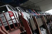 Mlada Boleslav/Tschechische Republik, Tschechien, CZE, 19.03.07: Skoda Octavia Modelle auf dem Werksgelände der Skoda Auto Fabrik in Mlada Boleslav für die Auslieferung per Schiene auf einen Autozug verladen. Der tschechische Autohersteller Skoda ist ein Tochterunternehmen der Volkswagen Gruppe.<br /> <br /> Mlada Boleslav/Czech Republic, CZE, 19.03.07: Skoda Octavia vehicles prepared for transportation on trailer-train at Skoda car factory in Mlada Boleslav. Czech car producer Skoda Auto is subsidiary of the German Volkswagen Group (VAG).