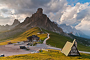 From Gasthaus Passo di Giau (2236 meters), explore scenic trails of the Dolomites (Dolomiti, a part of the Southern Limestone Alps), northern Italy, Europe. The Dolomites were declared a natural World Heritage Site (2009) by UNESCO.