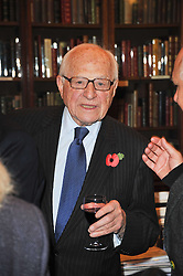 SIR RONALD GRIERSON at a party to celebrate the publication of Maryam Sach's novel 'Without Saying Goodbye' held at Sotheran's Bookshop, 2 Sackville Street, London on 10th November 2009.