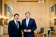 DEN HAAG - Koning Willem-Alexander ontvangt Janos Ader, de president van de republiek Hongarije op P