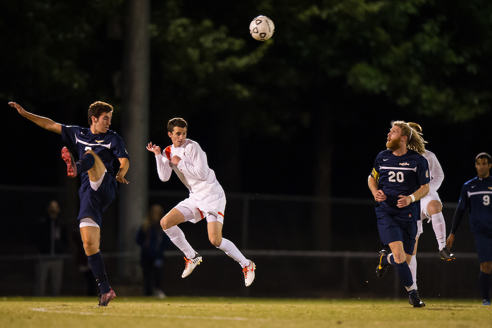 Oct 23, 2013; Morrow, GA, USA; Clayton State men's soccer player Casey Shultis against Georgia Southwestern at CSU. CSU won 3-2. Photo by Kevin Liles/kevindliles.com