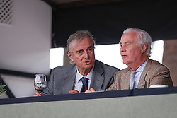 Joaquin Calvo, Honory President of the Real Club de Polo Barcelona, Jaime Rivera Vice President Spanish Federation<br /> Team consolation competition<br /> Furusiyya FEI Nations Cup Jumping Final<br /> CSIO Barcelona 2013<br /> © Dirk Caremans