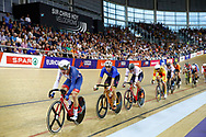 Men Omnium, Elia Viviani (Italy), Ethan Hayer (Great Britain) during the Track Cycling European Championships Glasgow 2018, at Sir Chris Hoy Velodrome, in Glasgow, Great Britain, Day 3, on August 4, 2018 - Photo Luca Bettini / BettiniPhoto / ProSportsImages / DPPI