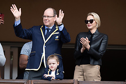 TABLOID OUT WEB & PRINT - Prince Albert II of Monaco, Princess Charlene of Monaco and Princess Gabriella of Monaco attend the Sainte Devote Rugby Tournament at Louis II Stadium in Monaco, on May 11, 2019. Photo by David Niviere/ABACAPRESS.COM