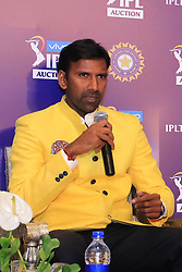 December 18, 2018 - Jaipur, Rajasthan, India - Chennai Super Kings bowling coach Laxmipathy Balaji  speak at a press conference for the Indian Premier League 2019 auction in Jaipur on December 18, 2018, as teams prepare their player rosters ahead of the upcoming Twenty20 cricket tournament next year. The 2019 edition of the IPL -- one of the world's most-watched sporting events attracting the world's top stars -- is set to take place in April and May next year.(Photo By Vishal Bhatnagar/NurPhoto) (Credit Image: © Vishal Bhatnagar/NurPhoto via ZUMA Press)