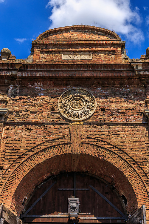 Porta Camollìa in  Siena,Italy. Porta Camollìa is one of the northern portals in the medieval walls of Siena, Italy.