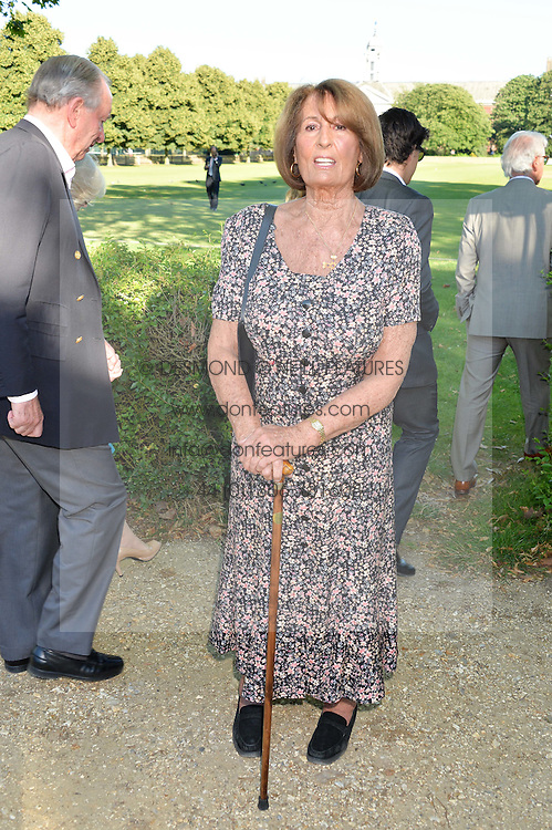 LADY ANNABEL GOLDSMITH at the Frost Family Summer party in support of the British Heart Foundation and the Mile Frost Fund held at Burton Court, Chelsea, London  on 18th July 2016.