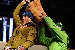 November 23, 2018 - Killington, Vermont, United States - FRIDA HANSDOTTER of Sweden at the bib draw ceremony before the Killington Cup ski races. (Credit Image: © Christopher Levy/ZUMA Wire)