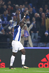 December 6, 2017 - Porto, Porto, Portugal - Porto's Cameroonian forward Vincent Aboubakar celebrates after scoring a goal during the UEFA Champions League Group G match between FC Porto and AS Monaco FC at Dragao Stadium on December 6, 2017 in Porto, Portugal. (Credit Image: © Dpi/NurPhoto via ZUMA Press)