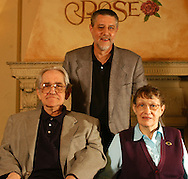04/09/2005 Omaha, Neb Beloved children's Book authors Jan and  Stan Berenstein with their son Michael Berenstein.<br /> Stan recently passed away.<br /> (photo by chris machian/Prairie Pixel group)