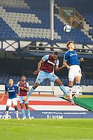Football - 2020 / 2021 League (Carabao) Cup - Round 4 - Everton vs West Ham United - Goodison Park<br /> <br /> Everton's Lucas Digne battles with  West Ham United's Sebastien Haller<br /> <br /> <br /> COLORSPORT/TERRY DONNELLY
