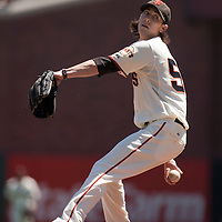 18 April 2009: San Francisco Giants' starter Tim Lincecum pitches against the Arizona Diamondbacks during the San Francisco Giants' 2-0 loss to the Arizona Diamondbacks at AT&T Park in San Francisco, CA.