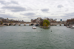 Pont neuf bridge over river, Paris, France