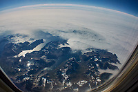 Greenland From 35000 Feet. Return Flight from Iceland. Image taken with a Nikon 1 V2 camera and 10 mm f/2.8 lens (ISO 160, 10 mm, f/9, 1/640 sec). Raw image processed with Capture One Pro, Focus Magic, and Photoshop CC.