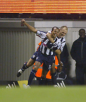20/11/2004 - FA Barclays Premiership - Arsenal v  - West Bromich Albion - HIghbury Stadium, London<br />West Bromich Albion's Robert Earnshaw celebrates with team mate Artim Sakiri after his equalizing goal<br />Photo:Jed Leicester/Back Page Images