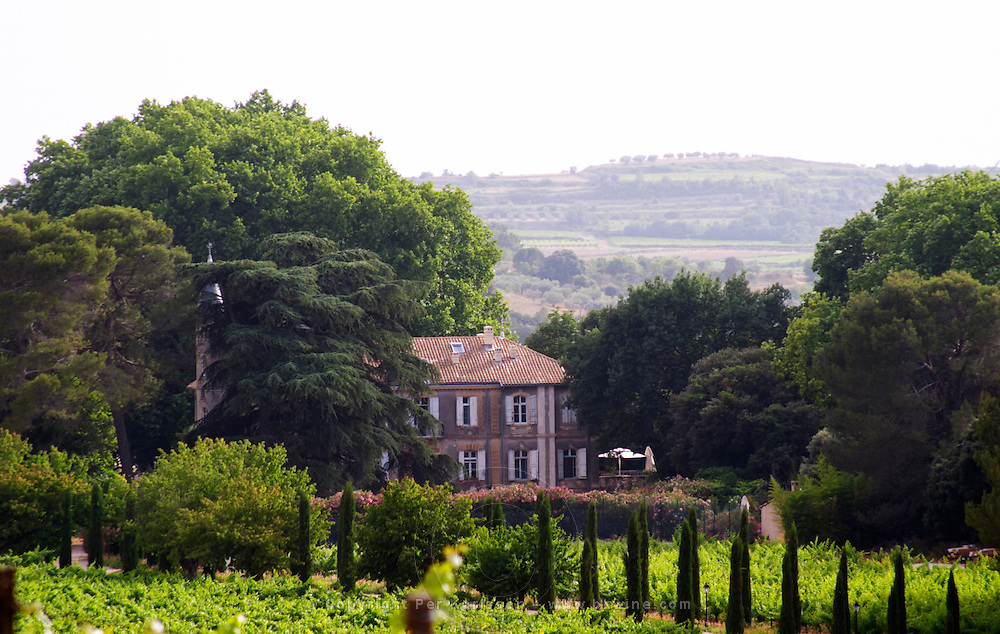 Domaine du Mas de Daumas Gassac. in Aniane. Languedoc. The main building. France. Europe. Vineyard.