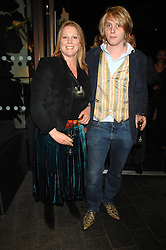 VISCOUNTESS GORMANSTON and her son HARRY GRENFELL at the opening of the new Gaucho restaurant at the O2 Arena, London on 15th May 2008.<br />