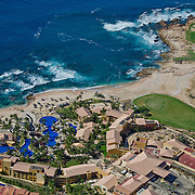 Aerial view of the Fiesta Americana Grand Los Cabos hotel.