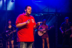 The Pleasance venue launched its 2017 Edinburgh Fringe Festival programme hosted by comedian Ed Gamble<br /> <br /> Pictured: Creatives playing at Pleasance Courtyard and written by Irvine Welsh & Don De Grazia