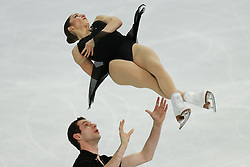 The XXII Winter Olympic Games 2014 in Sotchi, Olympics, Olympische Winterspiele Sotschi 2014, Figure Skating, Pairs Short Program,<br /> Marissa Castelli and Simon Shnapir (USA)  perform their short program in the pair skating competition at the XXII Olympic Winter Games *** Local Caption ***